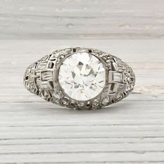 Vintage 242 Carat Old European Cut Diamond by ErstwhileJewelry, $35000.00