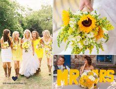 Amarelou! Bouquet; Madrinhas; Mesa;