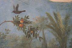 Roman fresco detail with blackbird and fruit, Villa of Livia, Prima Porta by raggi di sole. Fresco, Urban Graffiti, Graffiti Murals, Scenic Wallpaper, Roman Art, Popular Art, Creative Pictures, Mural Painting, Ancient Artifacts