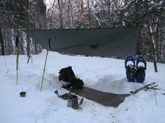 (B) Student Practice for Tarp Shelter Lesson Tarp Shelters, Safe Drinking Water, Winter Survival, Winter Camping, Wilderness Survival, Bushcraft, Primitive, Gadgets, Outdoor