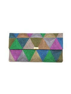 embroidery clutch bag by anne grand-clement