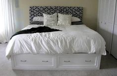 Ana White | Build a Queen Sized Storage Bed | Free and Easy DIY Project and Furniture Plans