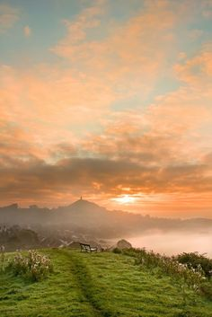 Glastonbury Tor, Somerset, England | (10 Beautiful Photos) Already saving money to go back Summer 2014...and I'm taking Michael with me. Glastonbury stole my soul and I can't wait to go back.