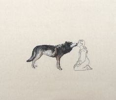 Per-based artist Ana Teresa Barboza uses yarn, thread, wool, and fabric to produce unique, tactile embroidery works. The artist has no boundaries to the wa Arya Stark Aesthetic, Potnia Theron, Wolves And Women, She Wolf, Wolf Girl, Six Of Crows, Art Textile, Illustration, Foto Art
