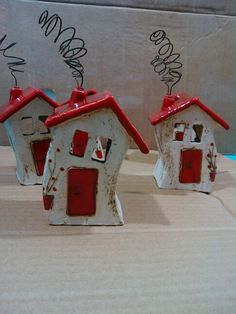 Image result for ceramic houses art