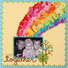 Happy Together layout for Doodlebug Design by frieda