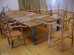 liverpool museum by exacta2a, via Flickr - adorable driftwood table