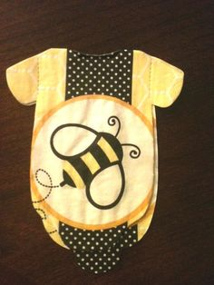 Pack of 30 Baby shower onesie napkins or decoration with yellow and black bumble bee