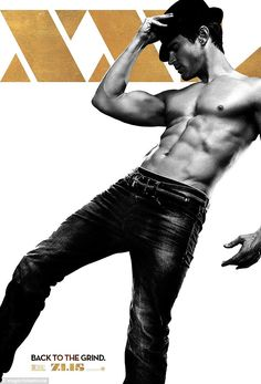 Showing off: A new poster for Magic Mike XXL featured Matt Bomer and his eight-pack abs in a shirtless image