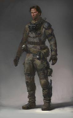 my concept art for different projekts (rookie soldier), Denis Didenko on ArtStation at https://www.artstation.com/artwork/3q8dD