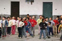 School children in Loudi, Hunan Province, PR China