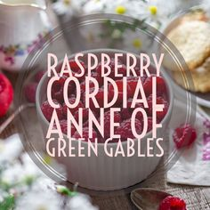 An old-fashioned Raspberry Coridal is simple to make and a delicious addition to any drink. Learn to make a traditional Raspberry Cordial just like the one from the Anne of Green Gables book series. Raspberry Cordial, Mocktail Drinks, Cordial Recipe, Homemade Syrup, Fruit Tart, Anne Of Green Gables, Summer Cocktails, Summer Fruit, Sunday Brunch