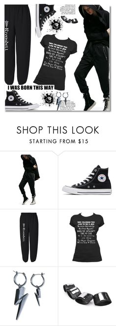 """""""Cool joggers"""" by paculi ❤ liked on Polyvore featuring Converse, Cheap Monday, StreetStyle and casual"""