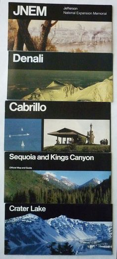 National Park Brochures by Massimo and Lella Vignelli Brochure Folds, Massimo Vignelli, Next Us, Crater Lake, The Expanse, Book Design, National Parks, Layout, Copywriting