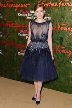 Amy Adams wears ELIE SAAB Haute Couture Fall Winter 2013-2014 to the Wallis Anneberg Center for Performing Arts Inaugural Gala.