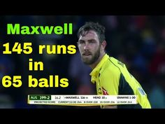 Glen Maxwell  145 runs off 65 balls Highlights 2016