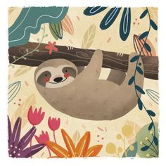 Hangin Around by Lindsay Dale, via Behance