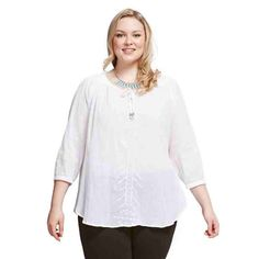 PRE-ORDER - Embroidered Peasant top (WHITE) $69.95 http://www.curvyclothing.com.au/index.php?route=product/product&path=95_104&product_id=6859&limit=75