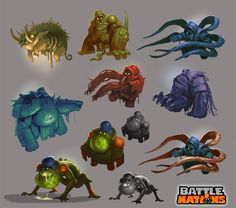 Battle Nations Infected concepts by *Nerd-Scribbles on deviantART