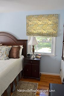 Roman shades made out of mini blinds