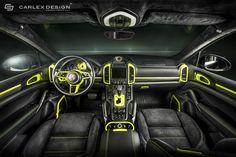 Porsche Cayenne S Custom Dark Black Interior Concept