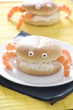 Sandwiches de cangrejo
