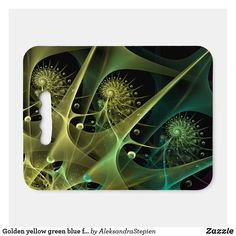 seat cushion created by AleksandraStepien. Stadium Seat Cushions, Stadium Seats, Golden Yellow, Blue Green, Logo For School, Geometric Flower, Spirals, Fractals, Light In The Dark