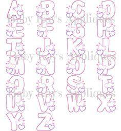 Baby Kay's Appliques - Valentine Alpha with Bean Stitch 4x4, 5x7, 6x10, 8x8, $4.95 (http://www.babykaysappliques.com/valentine-alpha-with-bean-stitch-4x4-5x7-6x10-8x8/)