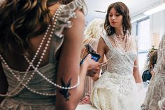 The Prettiest Wedding Dresses From the Spring 2018 Runway | Brides.com Most Beautiful Wedding Dresses, Best Wedding Dresses, Bridal Dresses, Wedding Gowns, Wedding Dress Trends, Wedding Dress Shopping, Wedding Ideas, Bridal Lace, Bridal Style