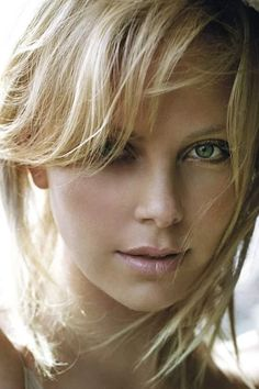 Charlize Theron angelic portrait by the ocean, a modern classic beauty, star of The Devil's Advocate, The Italian Job, and Mad Max: Fury Road. Charlize Theron, Beautiful Eyes, Most Beautiful Women, Celebs, Celebrities, Woman Face, Beautiful Actresses, Belle Photo, Pretty Face