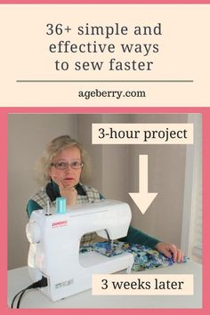 Sewing 101: learn how to sew faster using simple and effective sewing tips. Use sewing tools, equipment and notions to help you to sew faster, choose fabrics, patterns and styles that are fast to sew. #sewing #diy #sewingtutorials #sewingtips