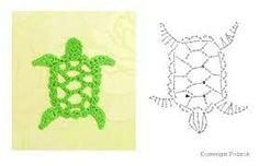 Crochet Applique Turtle Chart Pattern