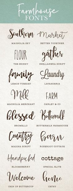 Created by My go to farmhouse fonts for DIY projects, brandi. - Created by My go to farmhouse fonts for DIY projects, brandi… - Fancy Fonts, Cool Fonts, Artsy Fonts, Simple Fonts, Creative Fonts, Farmhouse Font, Cricut Craft Room, Cricut Fonts, Cricut Tutorials