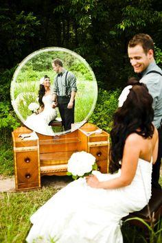 vintage wedding mirror pic