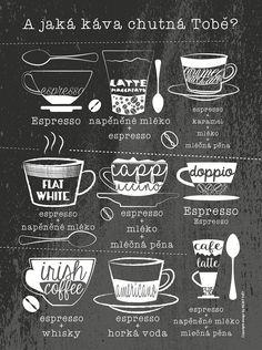 Černý plakát HEZKÝ SVĚT Káva | ZOOT.cz