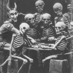 Only a Skeleton Group showed up for the last Skeleton Meeting....Where WAS everybody???....Creepy Photo Plus!