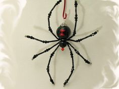 Black Widow Halloween Spider Tarantula Decoration One of A Kind Swarovski