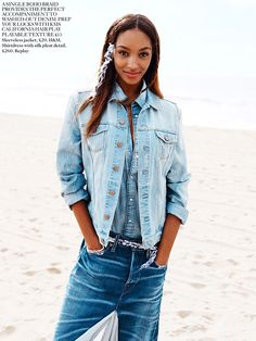 Jourdan Dunn photographed by Angelo Pennetta for Miss Vogue, April 2014. Makeup by Frank B.