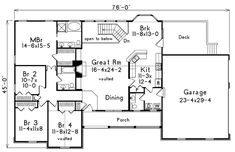 1000 images about houseplans 3400 3799 on pinterest for 1500 sq ft house plans with basement
