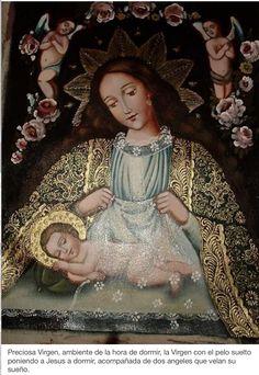 Me encanta esta imagen de la Virgen del Sueño! ¡Ven Madre mía cada noche a velar el mío!!