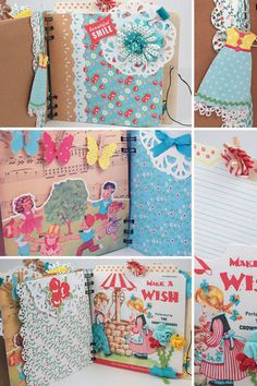 Vintage premade scrapbook mini album for girls by KBandFriends