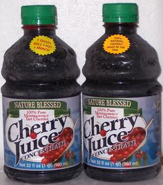 Cherry Juice Concentrate-it contains a high level of melatonin a potent antioxidant that can help relieve the pain of arthritis, gout, and even headaches. Research done by Michigan State University also shows that Tart Cherry Juice Concentrate can reduce the risk of cancer, heart attacks and vericose veins.
