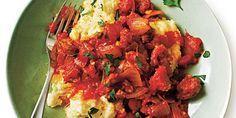Sausage Ragu over Creamy Polenta