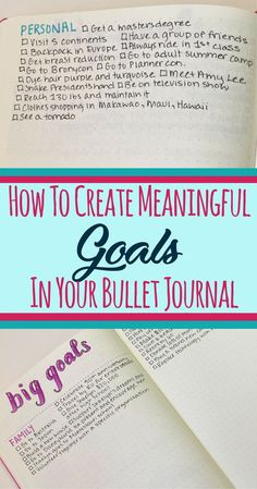 How to start using long term goal tracking in your bullet journal! Learn tips, suggestions, and ideas to make the process of breaking down long term goals successful in your monthly , weekly, and daily layouts. Increase your motivation and productivity with this fantastic bujo article. #bulletjournal #bulletjournalideas #goals #planning #bulletjournalcommunity #plannercommunity
