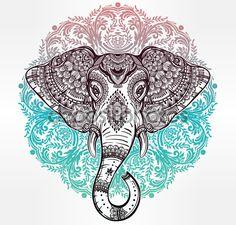 elefante hindu para imprimir - Buscar con Google