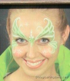 #Princess #facepaint #tinkerbell