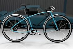 Porsche Bike by David Schultz. Okay, you've just got to love the little air foil on the rear fender!