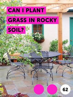Can I Plant Grass in Rocky Soil?. Usually rocky soil is found near or on top of high mountain ranges such as the Adirondacks or the Rockies. Mountains and foothills are supported by rock formations that run under the soil; since rocks weather over the years, there will often be a layer of soil above the rock in which grass can be planted.  Planting...
