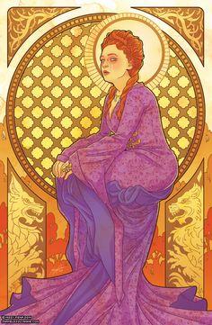 Game of Seasons: Fall by Missy Pena (inspired by Czech Art Nouveau artist Alphonse Mucha's Four Seasons)