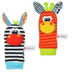 Sozzy baby rattles toys animal socks wrist strap foot socks bug | worth buying on AliExpress